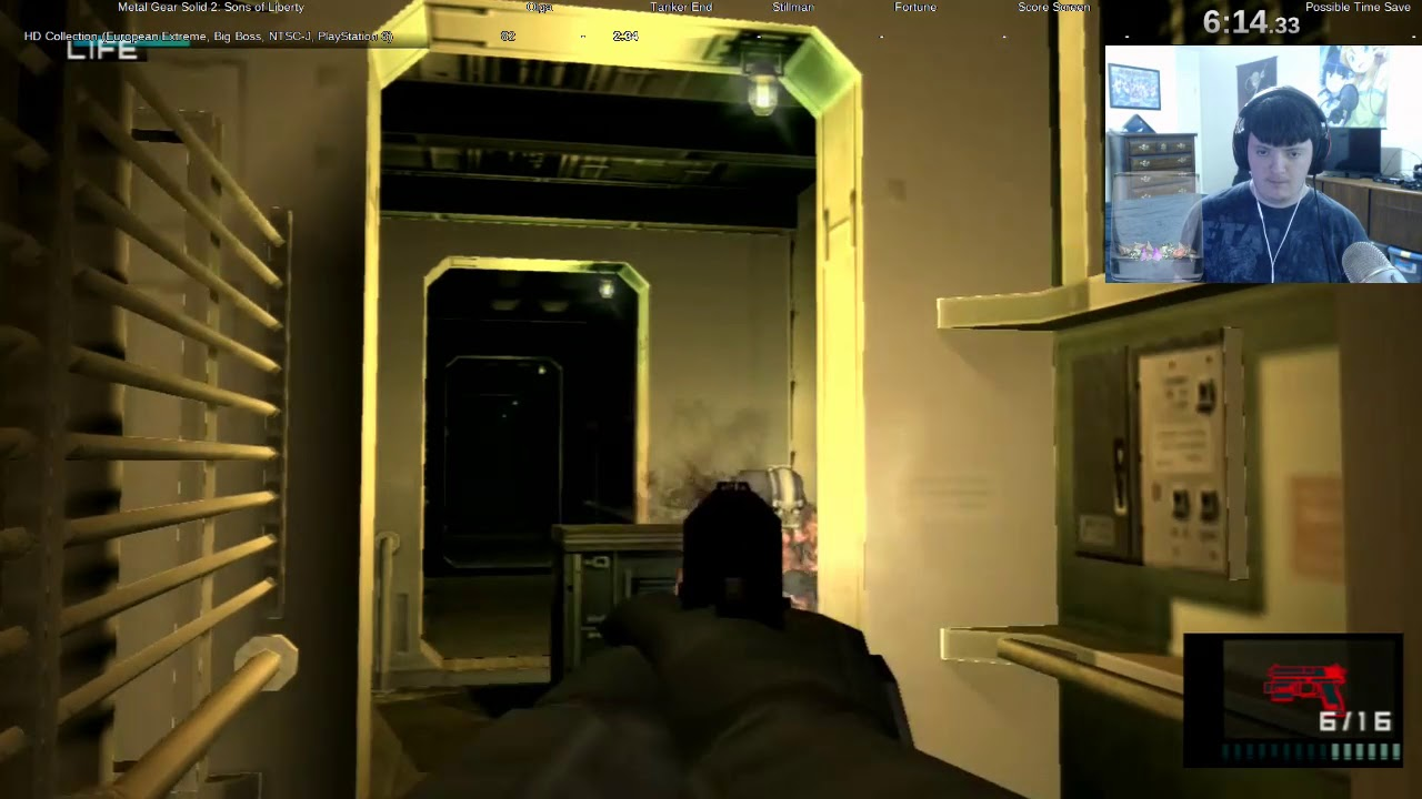 Ps3 Metal Gear Solid 2 European Extreme In 1 32 39 Big Boss Rank Loading Trick