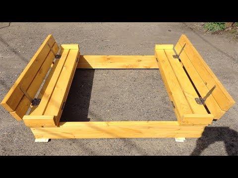 ✅ Песочница своими руками. Песочница трансформер. DIY Sandbox With Benches
