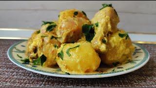 Самый простой и вкусный рецепт приготовления курицы и картошки в духовке Вкусно готовим дома