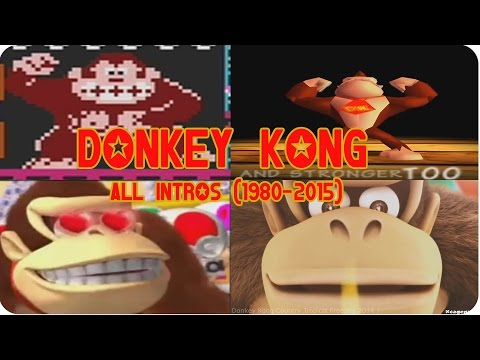 History of Donkey Kong - All Game Intros ( 1980 - 2015 )