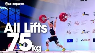 75kg All Lifts 2015 Junior World Weightlifting Championships
