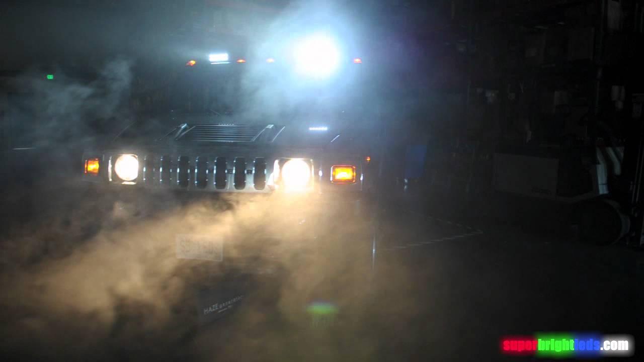 Off Road Led Light Bar On Hummer Youtube