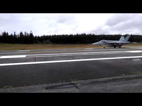 3 F/A-18's taking off from NAS Whidbey