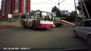 Out of Control Bus Crash