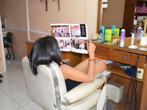 Caping a barber girl