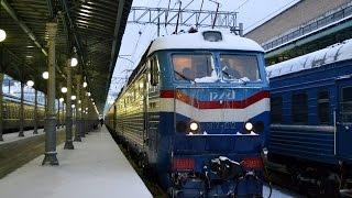 ЧС7-012 с поездом 096 по участку Вязьма-Москва