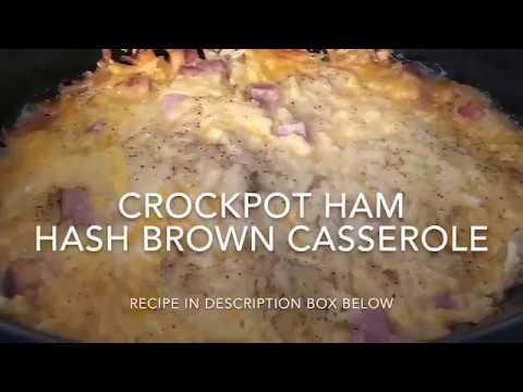 Crockpot Ham Hashbrown Casserole