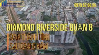 [ FLYCAM ] DIAMOND RIVERSIDE Q8 : DẦN THÀNH HÌNH SAU GẦN 5 NĂM KHỞI CÔNG