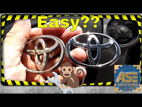 Toyota Prius Steering wheel emblem how to install step by step