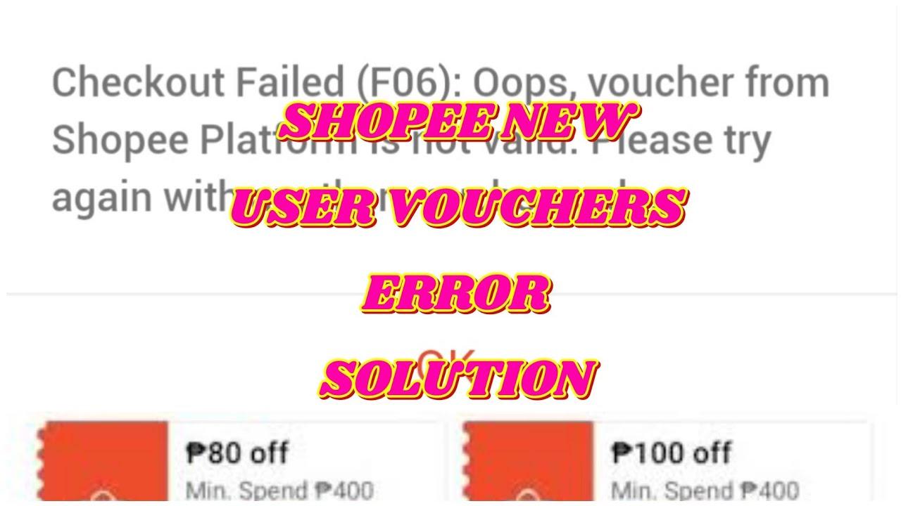 SHOPEE NEW USER ERROR   VOUCHER ERROR FIX 2021   FREE SHIPPING + 80 + 100 PESOS OFF VOUCHER