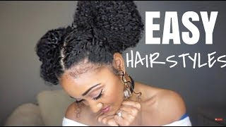 Easy, Lazy Hairstyles for Natural Hair   Victoria Victoria thumbnail