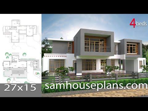 Lumion 6 easy tip render sketchup modeling modern vila for Model jardin villa