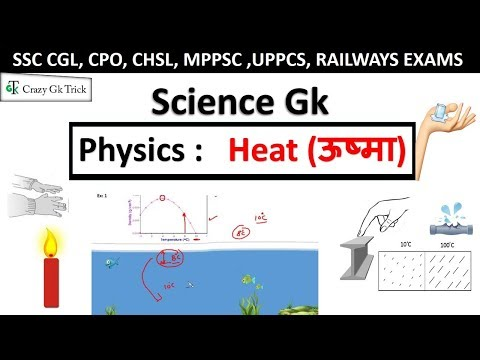 Physics : Heat & heat transfer (‎ऊष्मा) |General science | Science Quiz  |