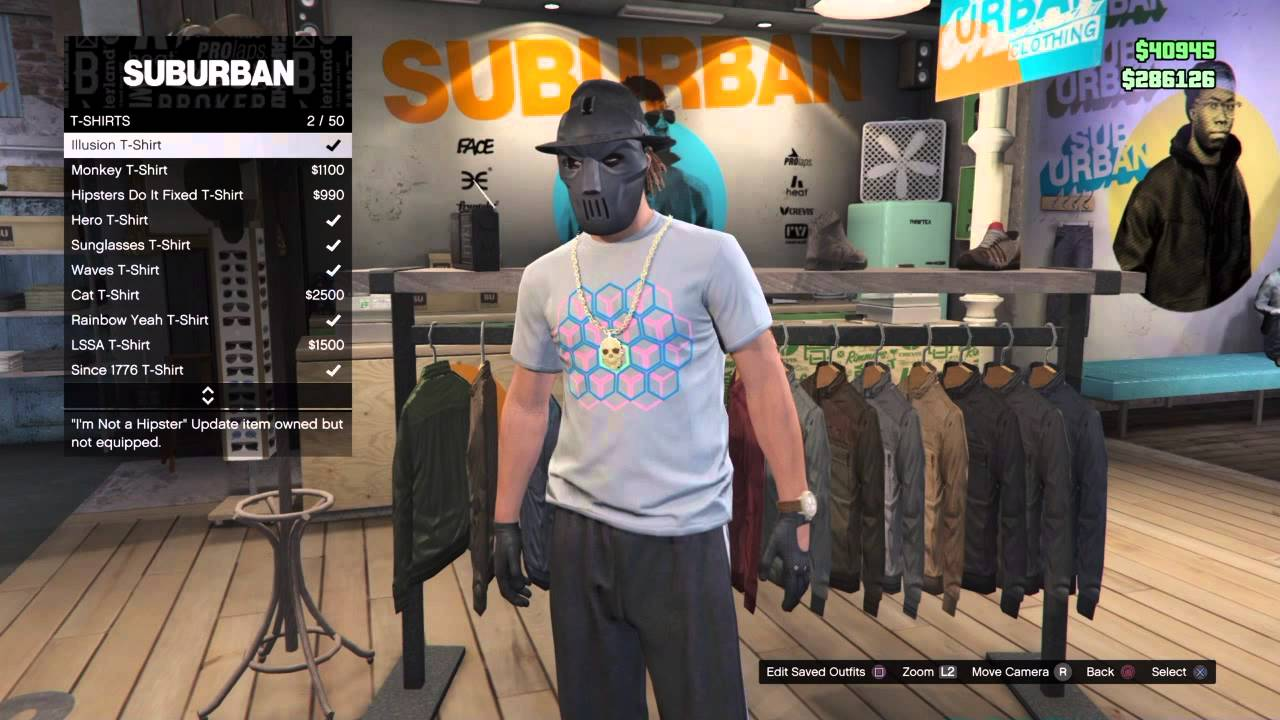 GTA 5 ONLINE - CLOTHES GLITCH, MAKE FREE CUSTOM SHIRTS. Demonic ...