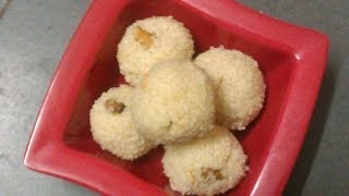 Rava Laddu (bombay Rava) Sweet