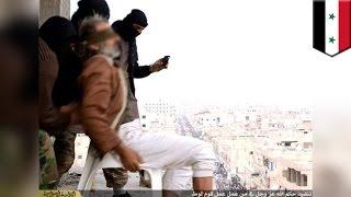 Боевики ИГИЛ сбросили с крыши мужчину-гея(Боевики ИГИЛ сбросили с крыши семиэтажного здания мужчину – только за то, что он гей. На фото мы видим мужчи..., 2015-02-05T04:30:31.000Z)