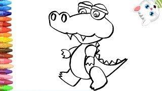 как нарисовать крокодил с MiMi   Раскраски детей HD  Рисование и окраска