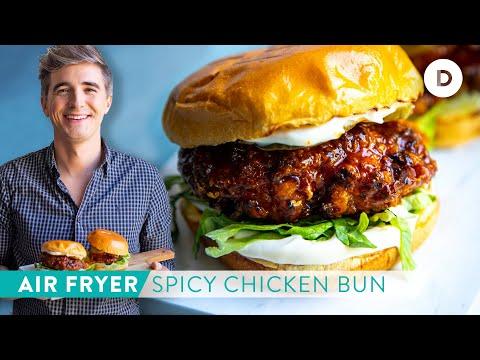 RECIPE: AIR-FRYER Spicy Honey Crispy Chicken Buns!