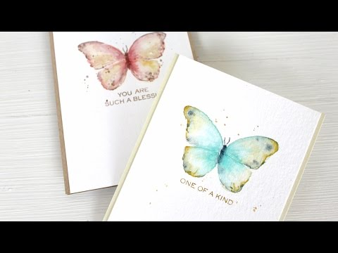 Watercolor Stamping: Easy Butterflies