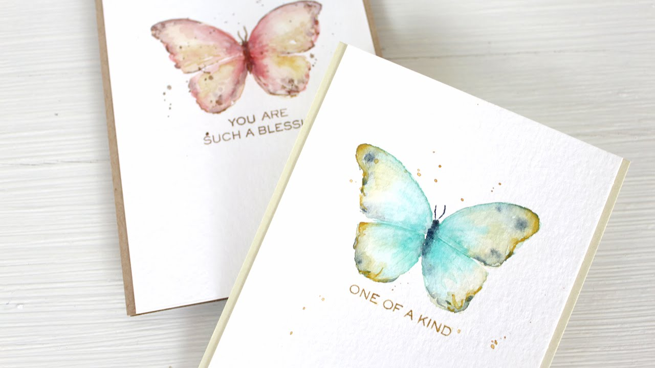 Easy Watercolor Paintings Of Butterflies Watercolor Stamping: E...