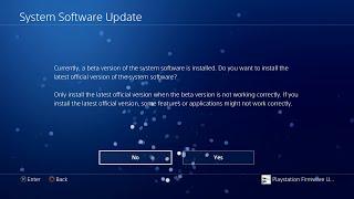 PS4 Downgrade Update 4.0 (BETA)