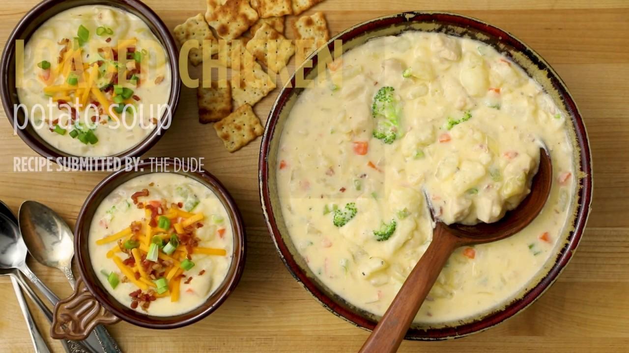 How To Make Loaded Chicken Potato Soup Soup Recipes Allrecipes