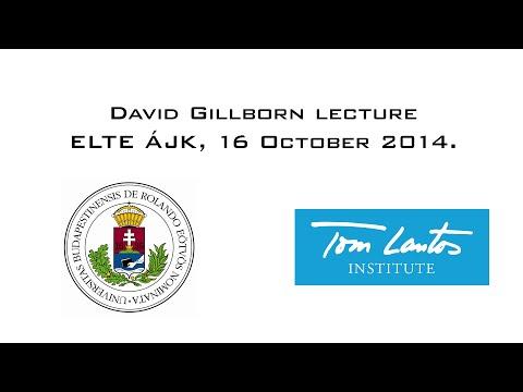 David Gillborn Lecture ELTE ÁJK, 16. October 2014