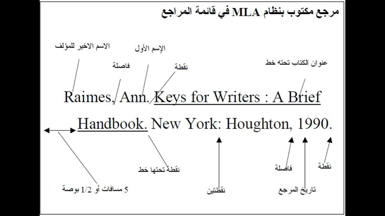 كيف اكتب مرجع كتاب بالانجليزي