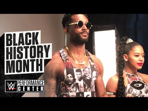 NXT Superstars Bianca Belair And Montez Ford Showcase Their Custom Gear For Black History Month