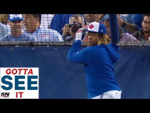 GOTTA SEE IT:  Vladimir Guerrero Jr. Hits Some Massive Home Runs In His First Blue Jays' BP