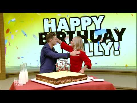 Sandy - Kelly Ripa Gets GIANT P B & J Cake For Her Birthday!