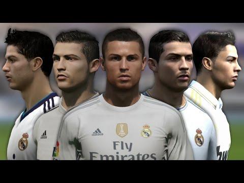 Cristiano Ronaldo from FIFA 04 to 16 (Face Rotation and Stats)