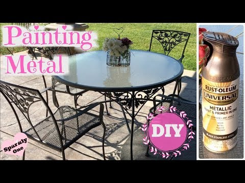 How To Paint Metal With Rust Oleum, What Spray Paint To Use On Outdoor Metal Furniture