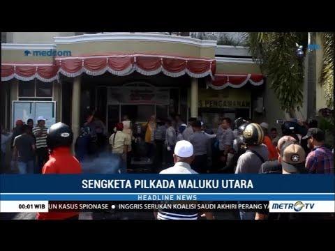 Demo Di Kantor KPU Maluku Utara Ricuh