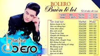 Bolero Buồn lẻ loi - Khưu Huy Vũ || Tuyệt phẩm Bolero chọn lọc