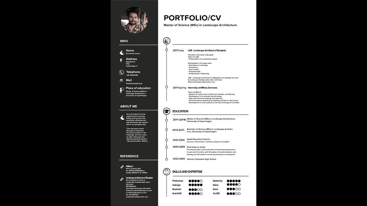 free portfolio and cv