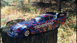 Traxxas Ford Mustang Funny Car Driving and Overview