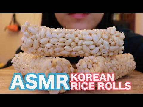 asmr-(vegan)-:-giant-korean-rice-rolls-/-super-crunchy-sounds-/no-talking