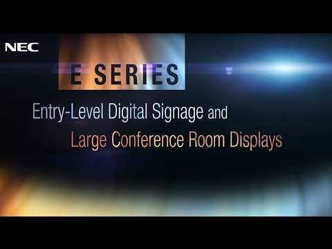 E Series Large-Screen Displays | NEC Display Solutions
