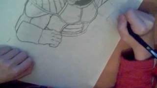 Drawing Great Ape Vegeta