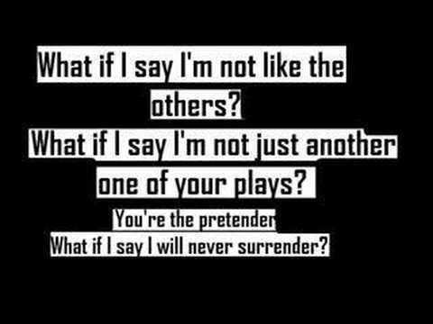 Foo Fighters-The Pretender-Lyric - YouTube