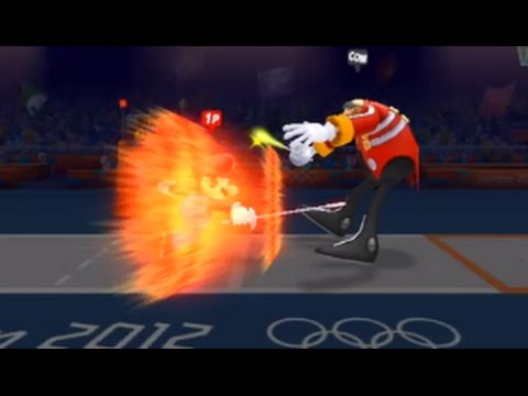 Mario and Sonic at the London 2012 Olympic Games (Wii) - Fencing (Hard)