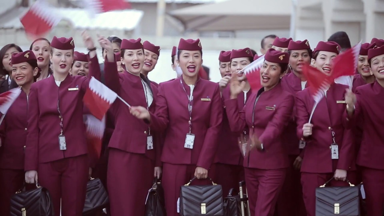How We Welcome Our New Cabin Crew - Qatar Airways - YouTube