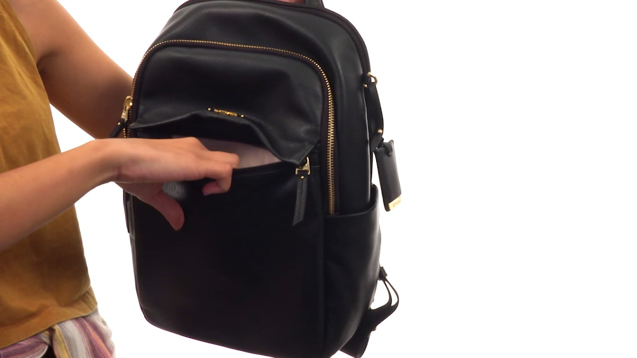 Tumi Voyageur Leather Daniella Small Backpack SKU 8932328 - YouTube 55422a108b