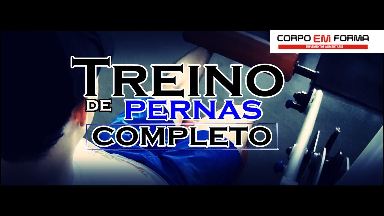 TREINO DE PERNAS COMPLETO