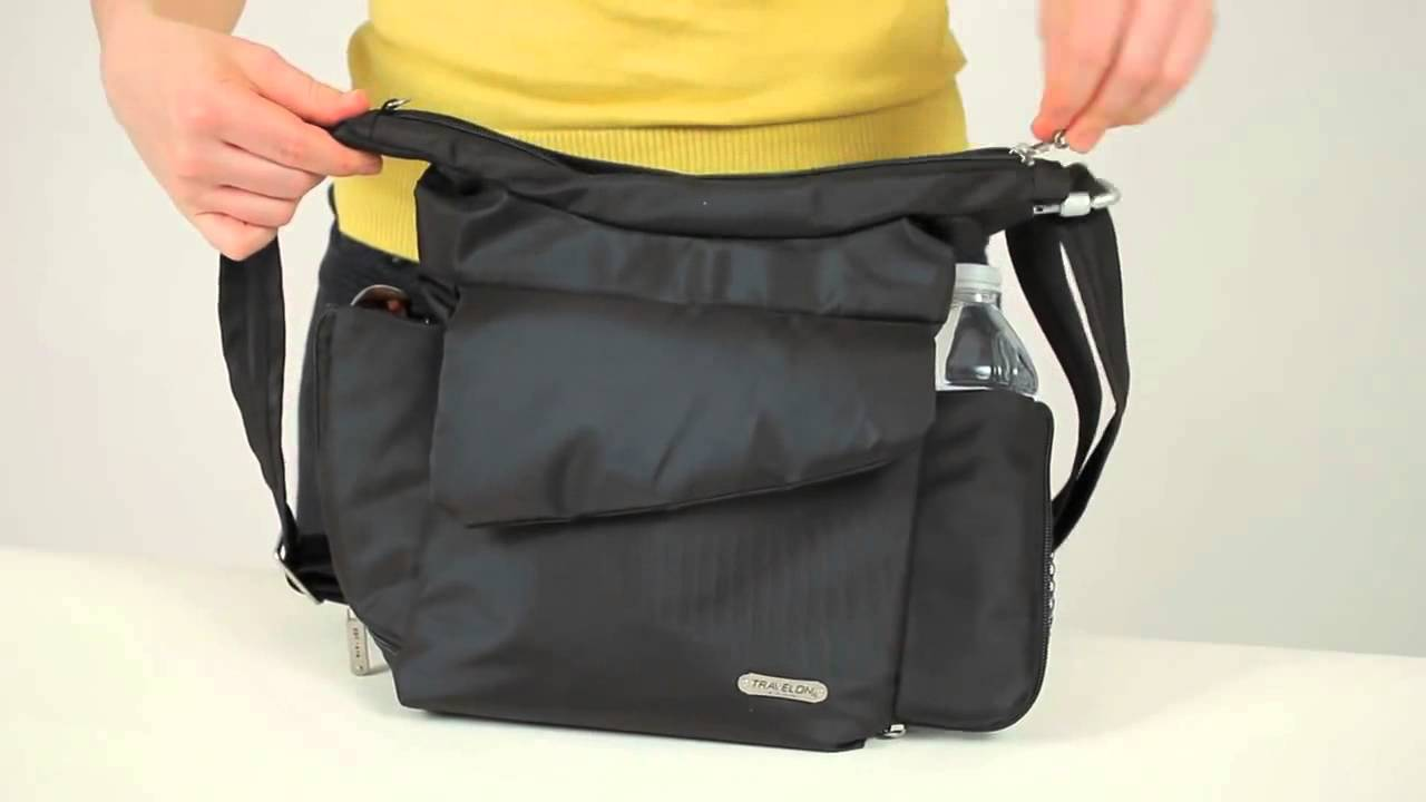 Travelon Classic Rfid Blocking Anti Theft Messenger Bag 42242