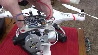 how to install a cheap 2d brushless metal gimbal on a cheerson cx 20 aka quanum nova quadcopter