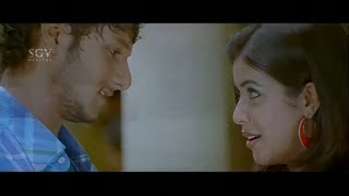 Rocky Heart Broken Scene by lover leaving city | Poorna | Josh | Latest Kannada Movie Scenes