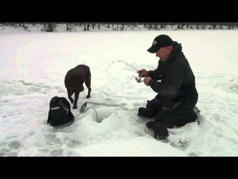 Ice Fishing on a Connecticut River Cove