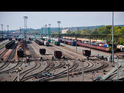 Роспуск вагонов на сортировочной горке станции Инская